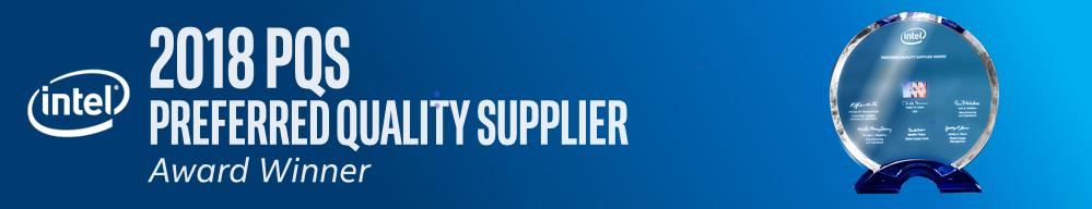 2018 Intel Preferred Quality Supplier Award graphic