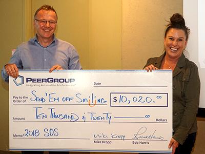 PEER Group donating $10,020 to Send'em Off Smiling