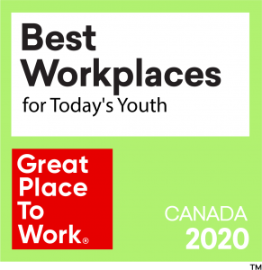 Badge for being recognized as a Best Workplace for Today's Youth