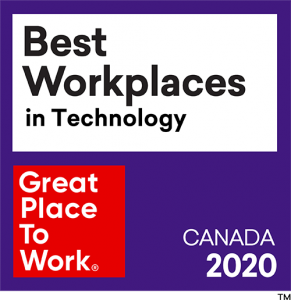 Great Place to Work badge for Best Workplaces in Technology 2020