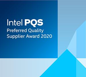 Intel 2020 Preferred Quality Supplier award