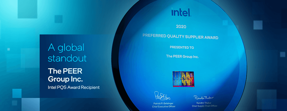 Intel's 2020 PQS award for PEER Group