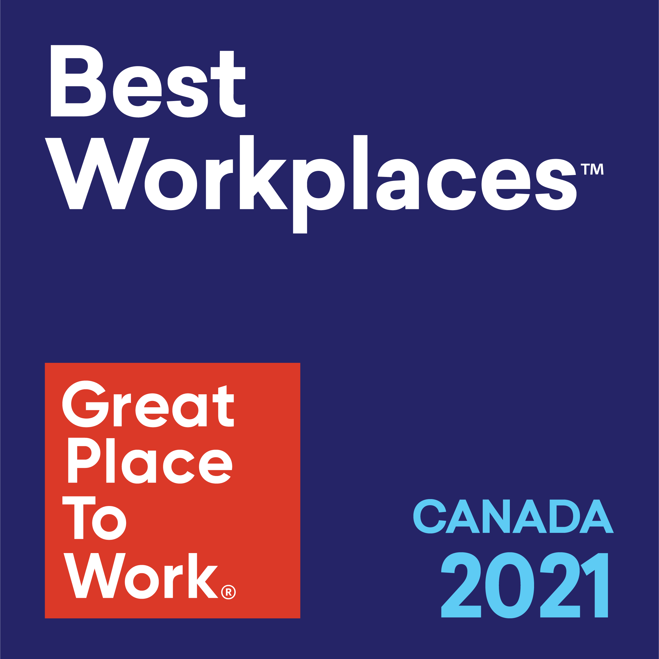 Best Workplaces in Canada 2021 Logo
