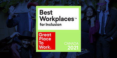Bestplace for Inclusion 2021 badge over PEER employee photo
