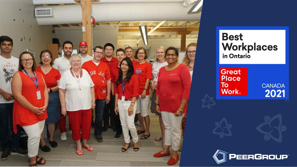 PEER Group named a 2021 Best Workplace in Ontario
